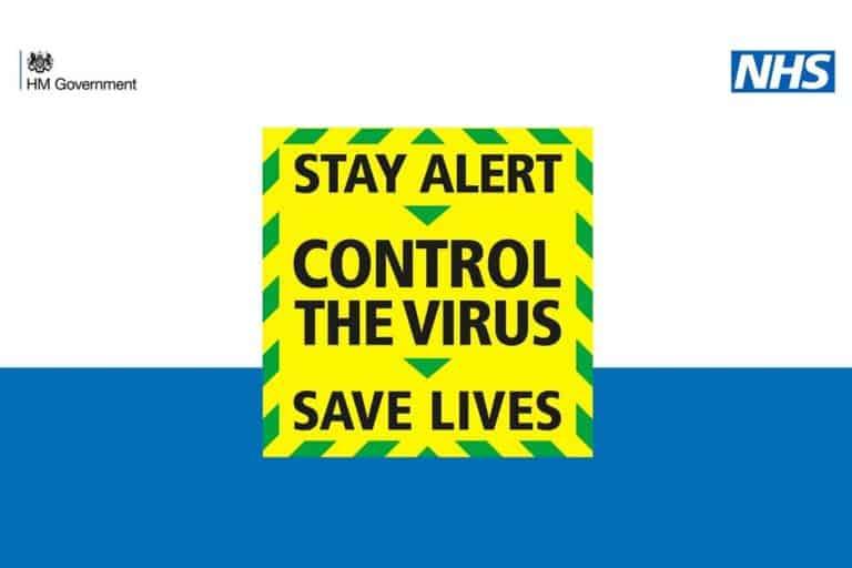 Coronavirus poster promoting the stay alert message